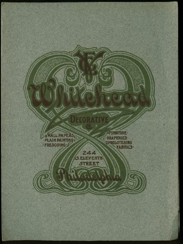 Whitehead Decorative Philadelphia folder ca 1910 wall paper furniture from The Jumping Frog
