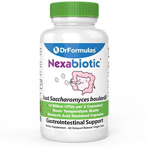 Nexabiotic Saccharomyces S Boulardii Probiotic by DrFormulas, Vegetarian Capsules, 60 Count