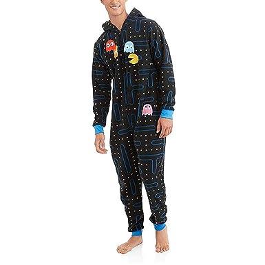 674a8f333ca29 Grenouillère Pacman Gamer Novelty Hooded Combinaison Hommes Sweat-Shirt  zippéà Capuche Combinaison Une pièce Pyjama