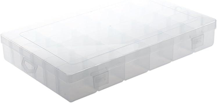 SODIAL(R) Organizador 36 Compartimento Plastico Bisuteria Ajustable Nuevo: Amazon.es: Juguetes y juegos