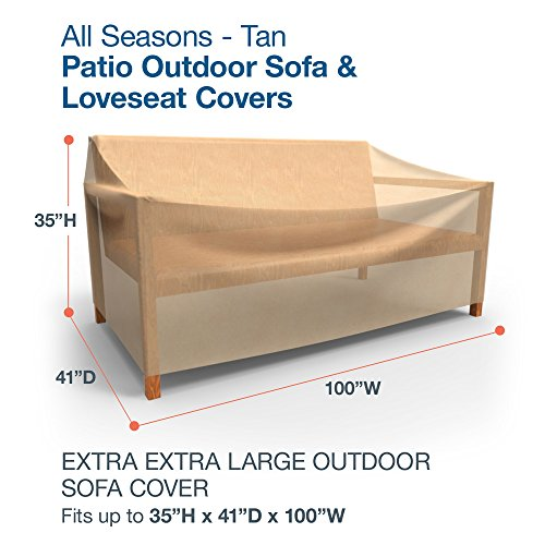 Budge All Seasons Outdoor Patio Sofa Cover Extra Extra Tan No Tax Fre