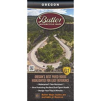 Butler Maps Oregon Motorcycle Map
