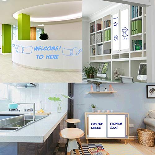 """Prefer Green Self-Adhesive Whiteboard Wall Decal Sticker, 78.7"""" × 17.5"""" Extra Large Strong & Durable Dry Erase Wall Paper Message Board for Kids, Office, School & Home with 1PCS Marker Pen (White) Photo #8"""