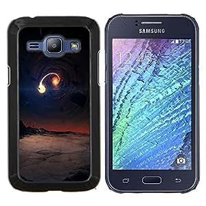 /Skull Market/ - Space Planet Galaxy Stars 72 For Samsung Galaxy J1 J100 J100H - Mano cubierta de la caja pintada de encargo de lujo -
