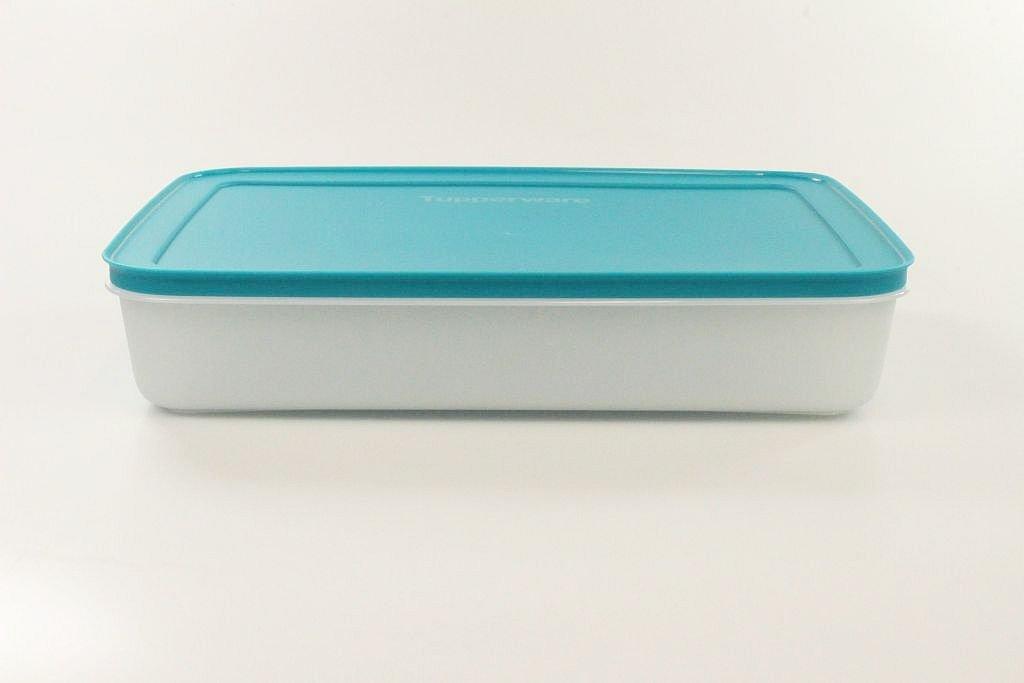TUPPERWARE Gefrier-Behälter 2,25 L Eiskristall türkis weiß flach Eis-Kristall P 17913