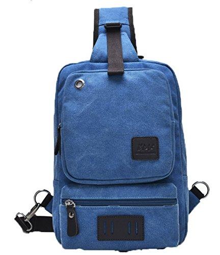 Moda Voguezone009 style Tela A Donna Messenger Tracolla Viaggio Azzurro Borse Xwtqpv