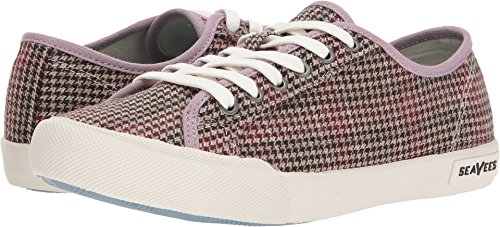 SeaVees Frauen Monterey Tailored Sneakers Rosa / dunkle Erde Harris Plaid