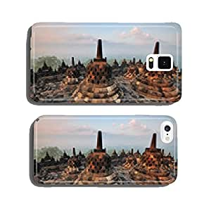 Sunrise at Borobudur Temple Stupa Jogjakarta, Indonesia. cell phone cover case iPhone5