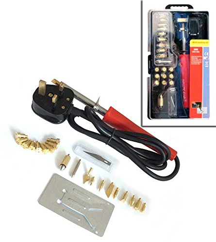20 Piece Wood Burning Pen 30W Soldering Tool Set Pyrography Kit Spectrum components