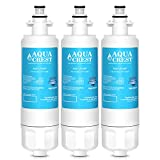 3 Pack AQUACREST LT700P Replacement for LG LT700P, ADQ36006101, KENMORE 469690 Refrigerator Water Filter
