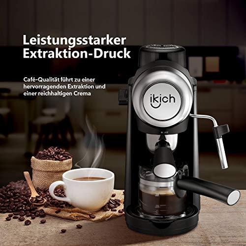Máquina de Café, IKICH Cafetera espresso, Cafetera Capuchino ...