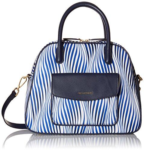 Vera Bradley Bowler, Wavy Stripe Navy (Bowler Handbag Bag)