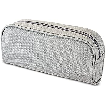 JFT Pencil Case Colored Gray   Quality Zippered Pencil Pouch Bag With Small  Compartments, Use