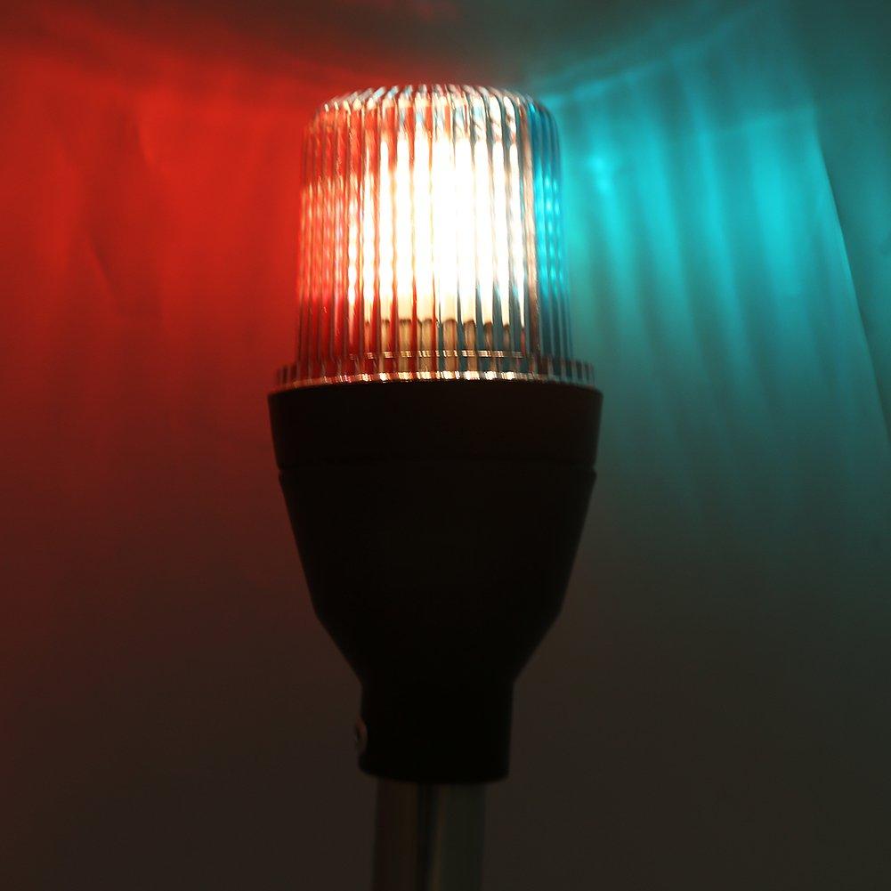 Feux de Navigation Keenso Tri-Couleur 12V 5W Voyant de Navigation Lumi/ère de Signalisation de S/écurit/é Lampe de Signal Bateau Marine LED