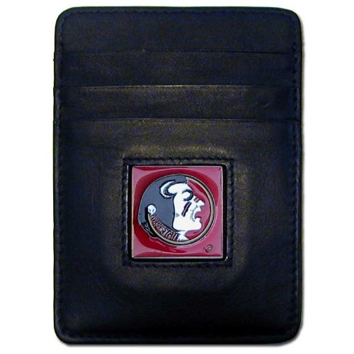 Florida State Card Credit (NCAA Florida State Seminoles Leather Money Clip/Cardholder Wallet)