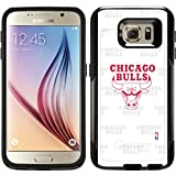 OtterBox Samsung Galaxy S6 Black Commuter Series Case with Chicago Bulls Repeating Design by Coveroo
