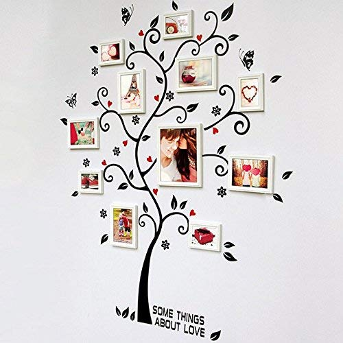 Sugely DIY Family Tree Wall Art Stickers Removable Vinyl Black Trees Photo Frames Wall Stickers Decals Home Decor Art Decals Sticker