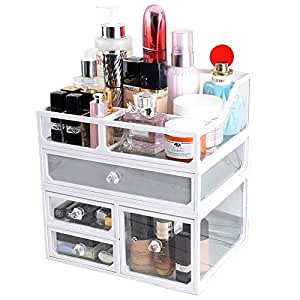 Amazon.com: InnSweet Glass Makeup Cosmetic Organizer Holder ...
