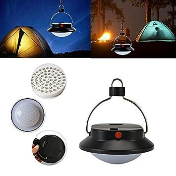 Camping al aire libre emergencia 60 LED portátil tienda de campaña paraguas lámpara de noche 5