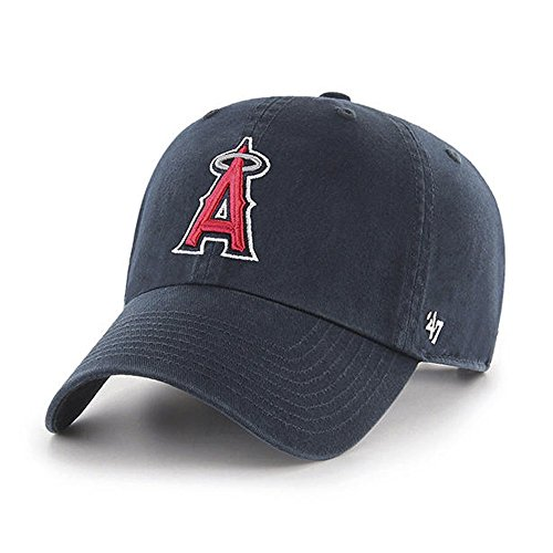 MLB Los Angeles Angels Men's Clean Up Cap, Navy