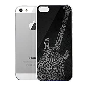 Light weight with strong PC plastic case for Iphone 5/5s Lifestyle Music Guitar Pattern
