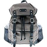 Leatherbay Padua Backpack,Grey/Black,One Size