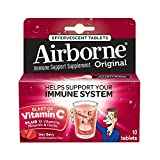 Health & Personal Care : Airborne Very Berry Effervescent Tablets, 10 count - 1000mg of Vitamin C - Immune Support Supplement