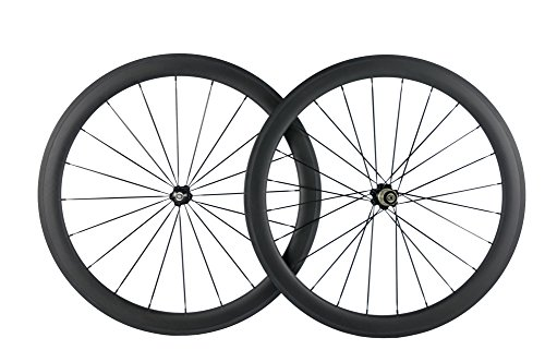 Superteam Carbon Fiber Clincher Road Bike Wheelset 700C25 Matt Finish 1 Pair by Queen Bike (Image #1)