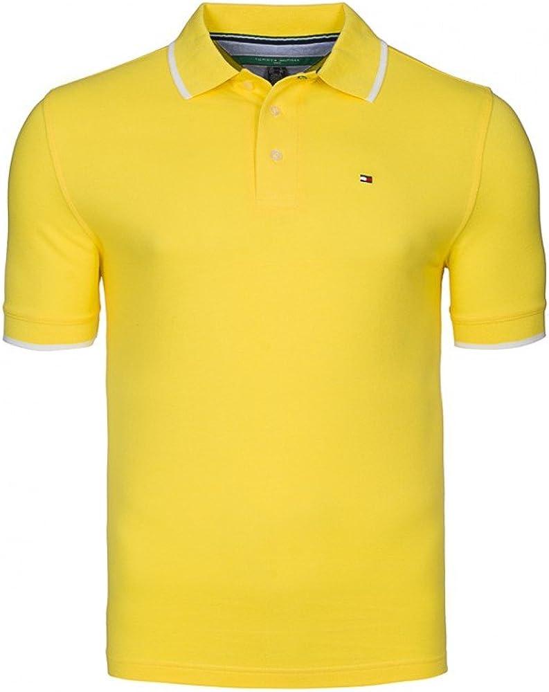 Tommy Hilfiger - Polo - para Hombre Amarillo S: Amazon.es: Ropa y ...