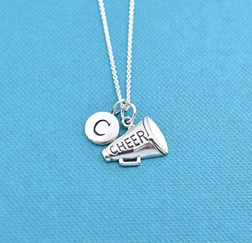 Girl's, teen's or women's megaphone charm pendant on a sterling silver rolo chain. Megaphone necklace. Gift for Cheerleader. Cheer mom