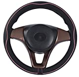 Mayco Bell Microfiber Leather Car Large Steering wheel Cover (15.25''-16'', Black Pink): more info