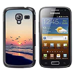 Caucho caso de Shell duro de la cubierta de accesorios de protección BY RAYDREAMMM - Samsung Galaxy Ace 2 I8160 Ace II X S7560M - Twilight coast