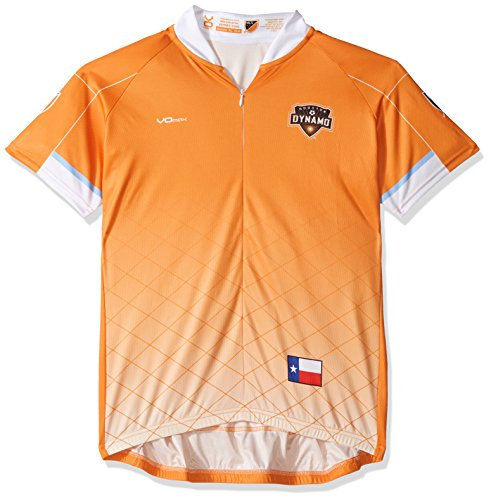 VOmax MLS Houston Dynamo Women's Primary Short Sleeve Cycling Jersey, Small, (Houston Cycling Jersey)