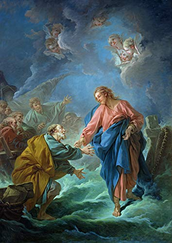Francois Boucher St. Peter Invited to Walk on The Water Cathedrale Saint-Louis, Versailles, France 30