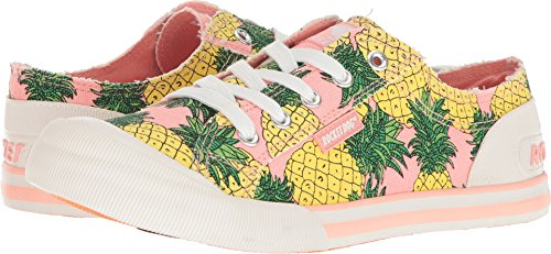 Rocket Dog Women's Jazzin Fruit Juice Cotton Sneaker, Pink, 7.5 M (Rocket Dog Zappos)