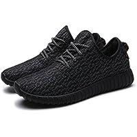 Womens Knit Zapatillas Mujer Gamuza de Casual ligero Athletic Zapatillas Transpirable en la parte superior Gimnasio–Zapatos de Senderismo