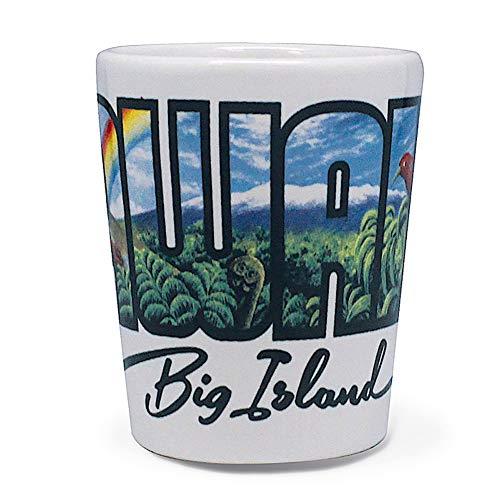 Hawaiian Ceramic Shot Glass Big Island