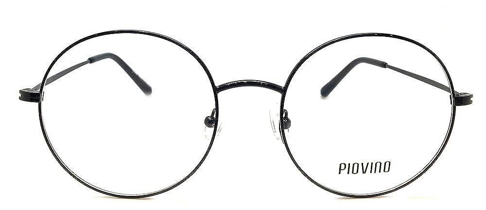 e9f7045f6d Amazon.com  New Design Piovino RX Eyeglasses Frames Pv 5504 Black Round  Metal Frames  Clothing