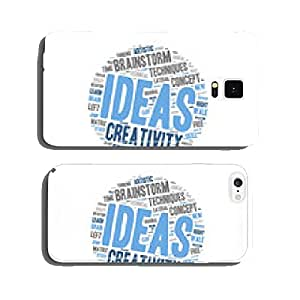 Word Cloud - Creativity and Inspiration - Light Bulb Shape cell phone cover case Samsung S6