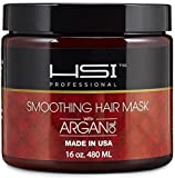 HSI PROFESSIONAL Hydrating smoothing Anti-Frizz Hair Mask for all hair types, infused with vitamins a, b, c, & d. creates silky, smooth and healthy hair. sulfate free. Made in USA....
