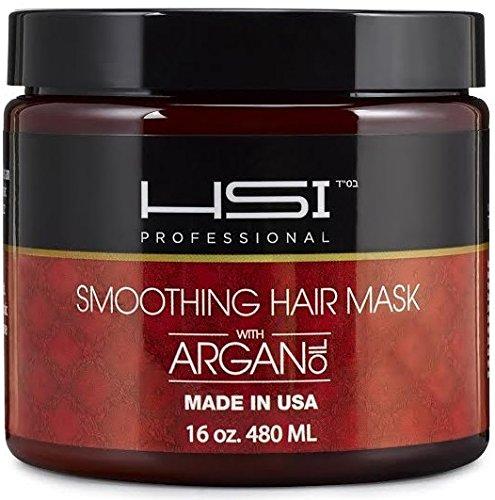 HSI profesional hidratante alisado mascarilla Anti-Frizz para todo tipo de cabello, con vitaminas a, b, c y d. crea cabello sedoso, suave y saludable. libre de sulfato. Made in USA. no más puntas (16oz)