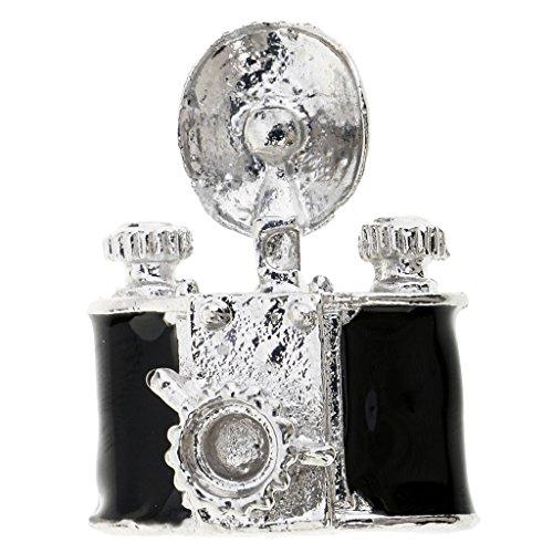Baoblaze ヴィンテージスタイル ブラック ミニチュア 樹脂カメラ 人形の家 装飾