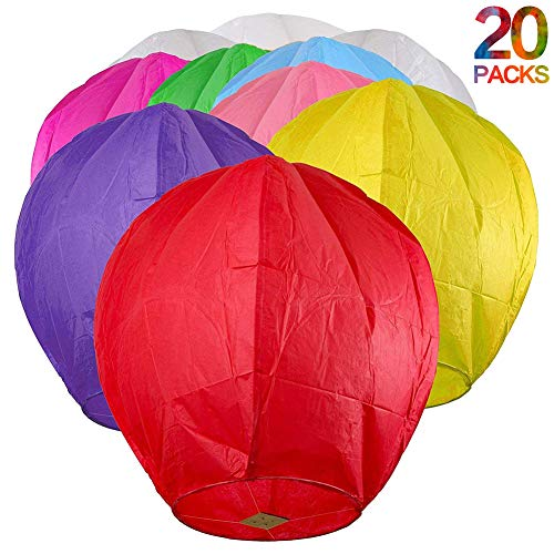 Maylai Sky Lanterns Flying Paper Lanterns Chinese Wish Lante