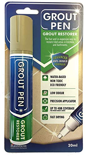 Grout Pen Large Beige - Ideal to Restore the Look of Tile Grout ()