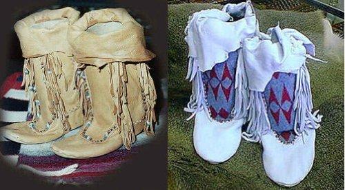 Native American Clothing Patterns (Sewing Pattern: Shoshone Moc - Size Medium (8-9-10))