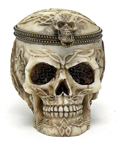 Box-Cool-Realistic-Skull-Ossuary-Offering-bowl-Jewelry-Stash-Rituals
