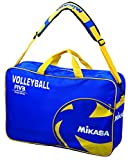 Volleyball Carrying Bag by Mikasa Sports - Holds 6 Balls, Blue/Yellow
