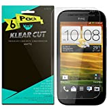 HTC One SV Screen Protector [6-Pack], Klear Cut High Definition Matte Screen Protector for HTC One SV (Boost Mobile) PET Film Anti-Glare and Anti-Bubble Shield