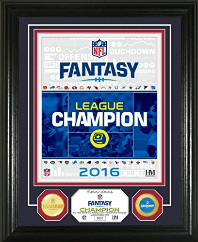 NFL Fantasy Football Champion Bronze Photo Mint Coin, 17