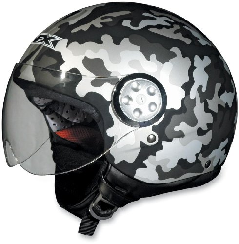 Afx Camo - AFX FX-42 Pilot Camo Helmet Flat Black Camo (Brown, Medium)